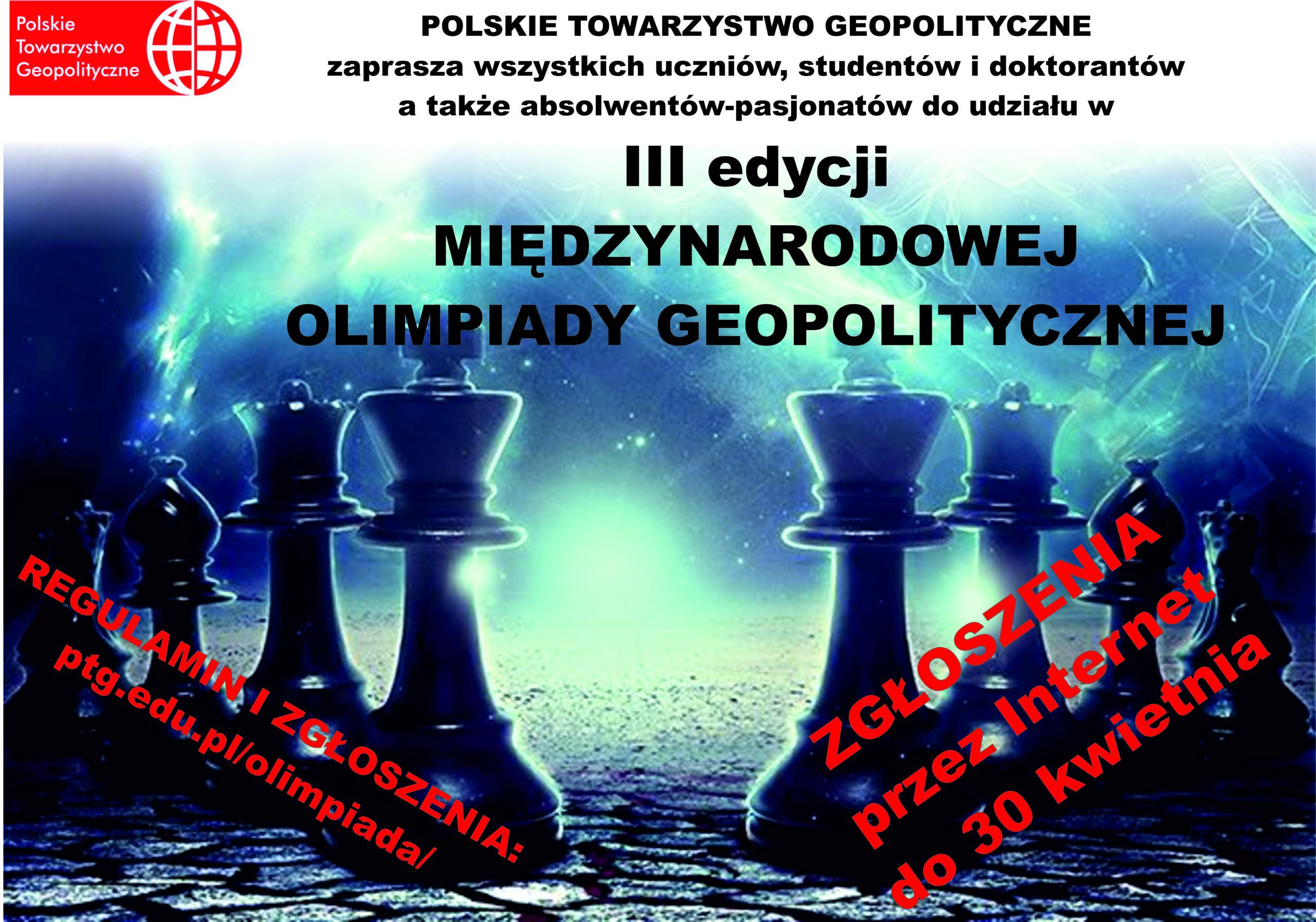 III edycja Międzynarodowej Olimpiady Geopolityczn …